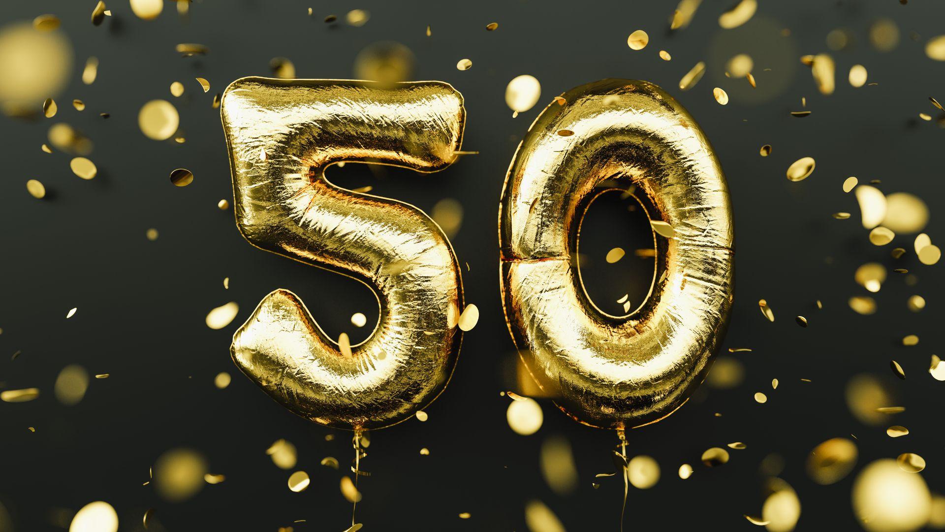 50º Aniversário Meio Século De Vida Ninguém Nunca Esquece