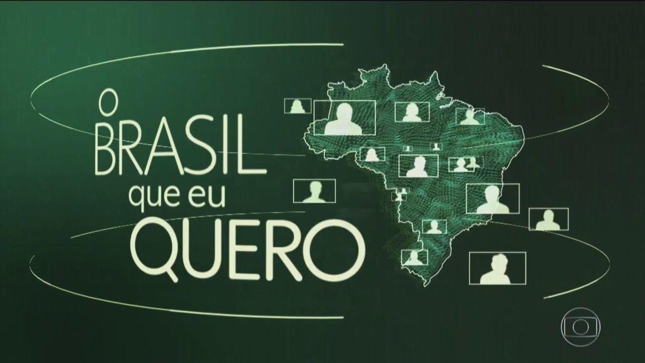 Imagem do quadro verde escrito 'O Brasil que eu quero'
