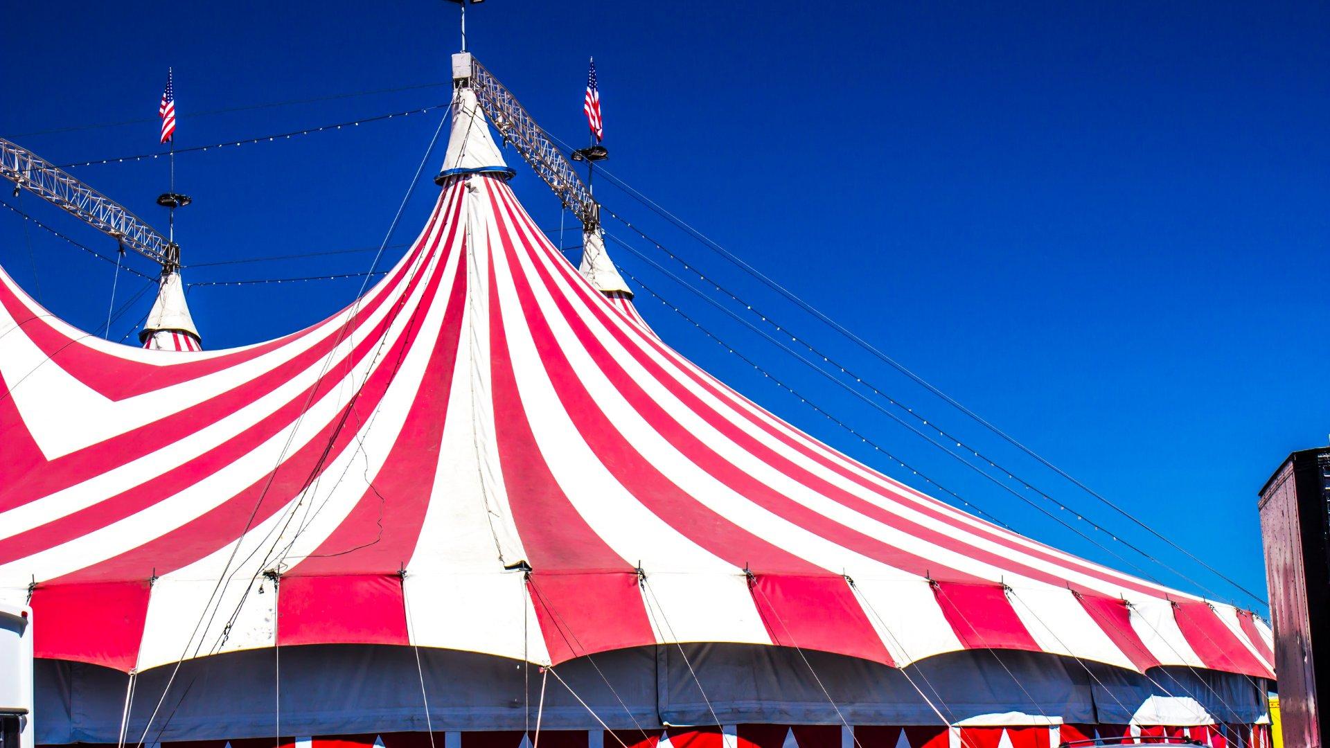 Foto da tenda de circo