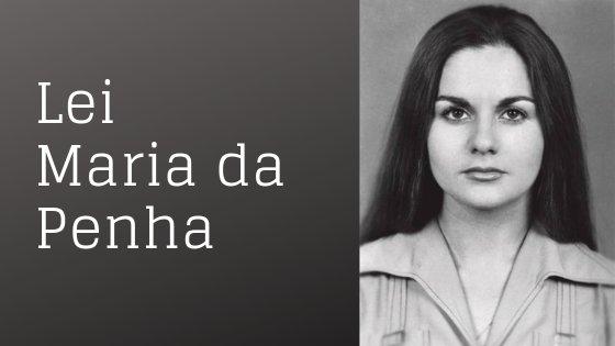 Montagem escrito Leia Maria da Penha com foto de Maria da Penha ao lado