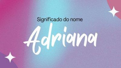 Adriana escrito sobre a foto de mulher de óculos e jaqueta vermelha com as mãos na cabeça