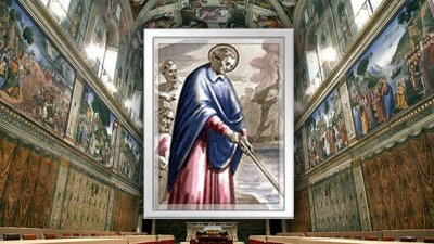 Imagem de São Frediano dentro da Basílica de São Frediano
