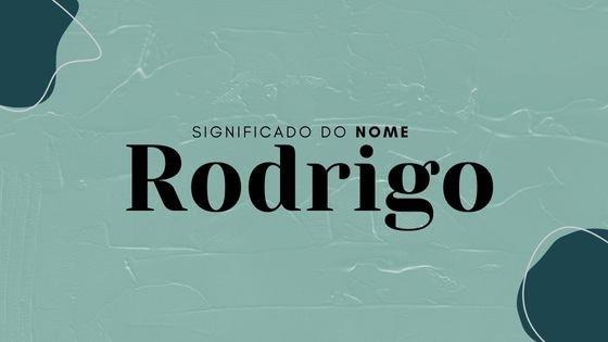 Rodrigo escrito sobre foto de homem com jaqueta e expressão séria