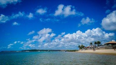 Vista panorâmica da Praia do Francês.