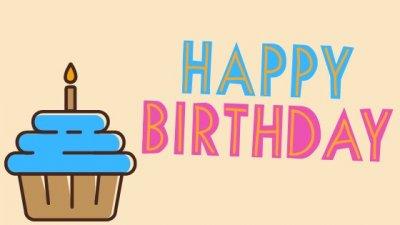 Ilustração de cupcake com escrito