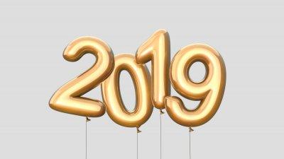 2019 escrito na neve.