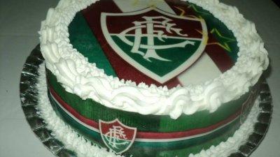 Foto de bolo de aniversário do fluminense