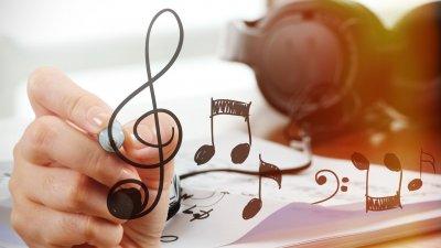 Foto de notas musicais