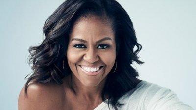 Perfil de Michelle Obama sorrindo