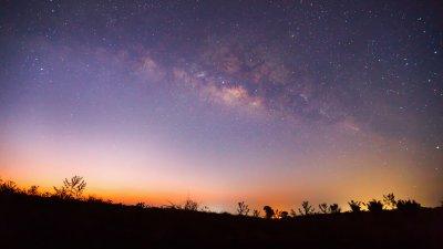 Foto de céu noturno estrelado