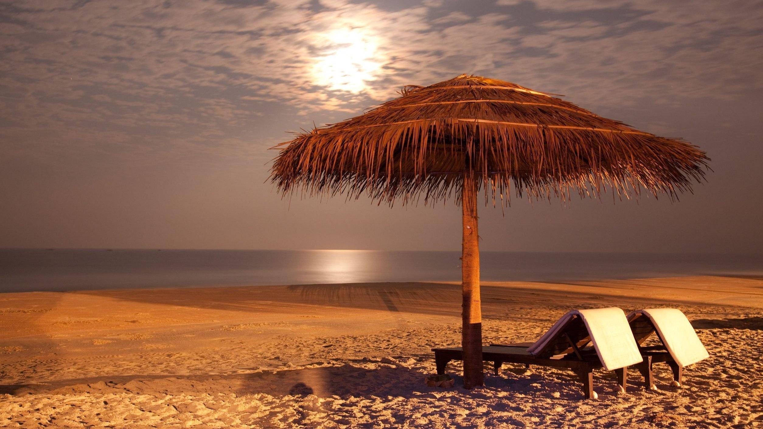 Praia a noite