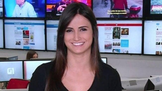 Repórter Mari Palma sorrindo