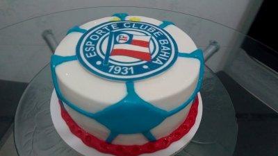 Bolo de aniversário do clube Bahia