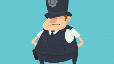 Ilustração de vigilante.