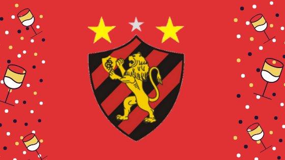 Montagem com o escudo do time de futebol Sport
