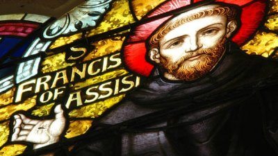 São Francisco de Assis em vitral