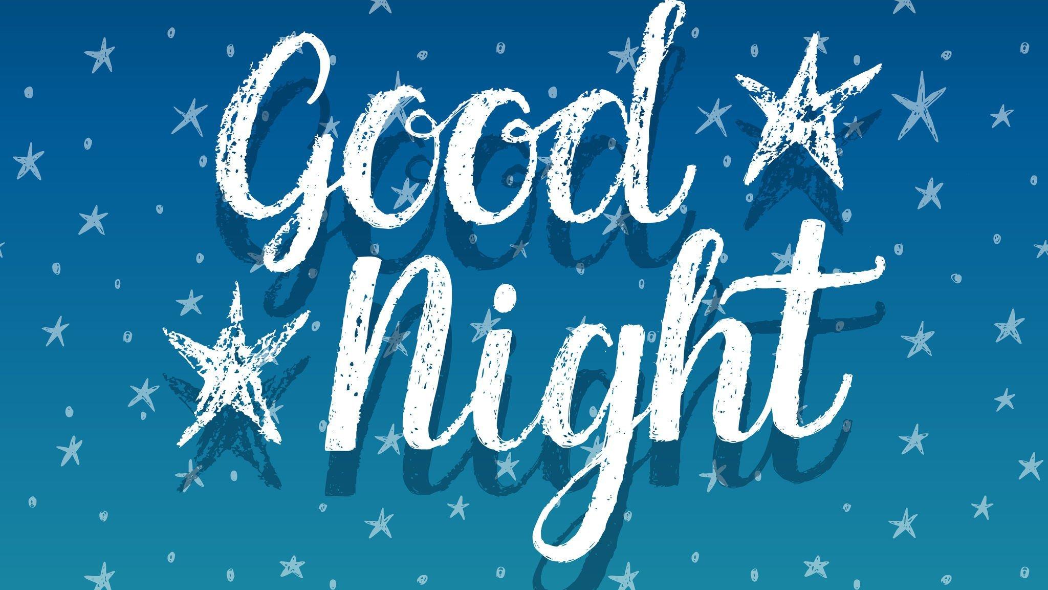 Boa Noite escrito em Inglês.