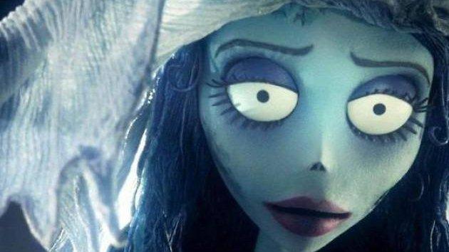 Desenho da personagem noiva do  filme A Noiva Cadáver.
