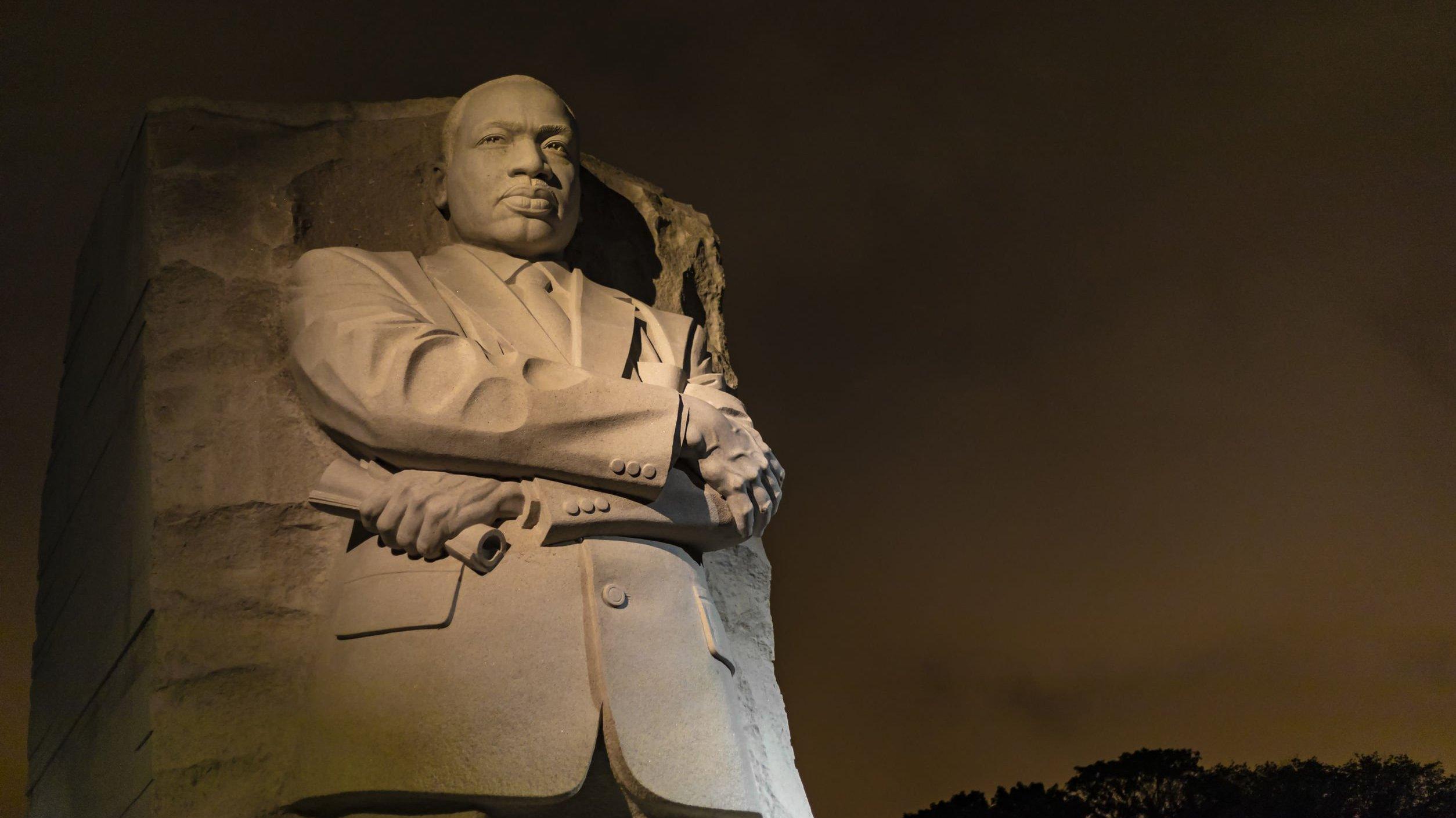 Estatua do  Martin Luther King.