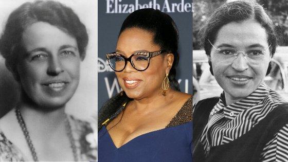 Imagens de Oprah, Eleanor Roosevelt e Rosa Parks