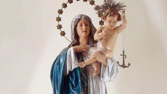 Imagem de Nossa Senhora dos Navegantes.