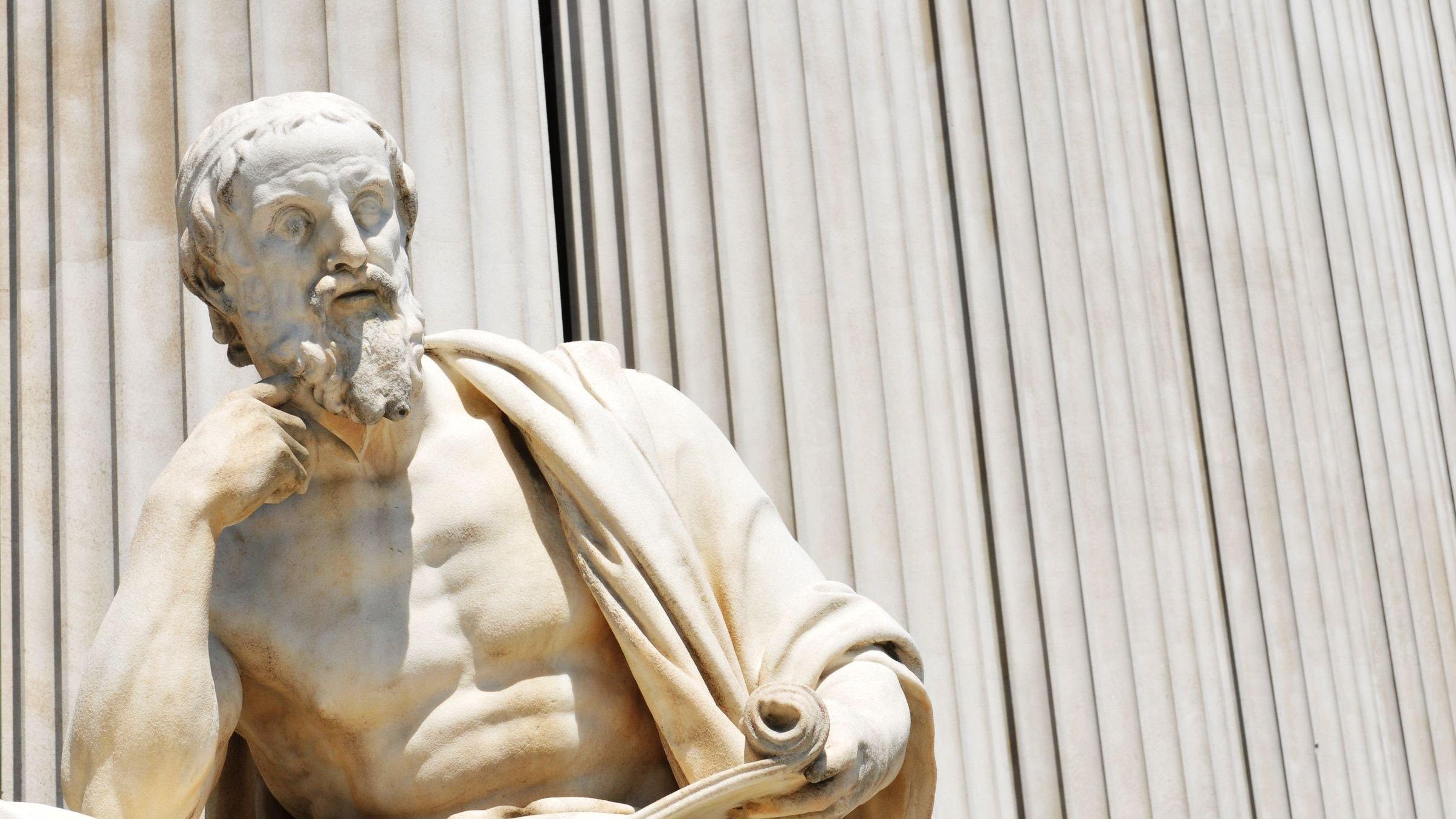Escultura de filosofo.