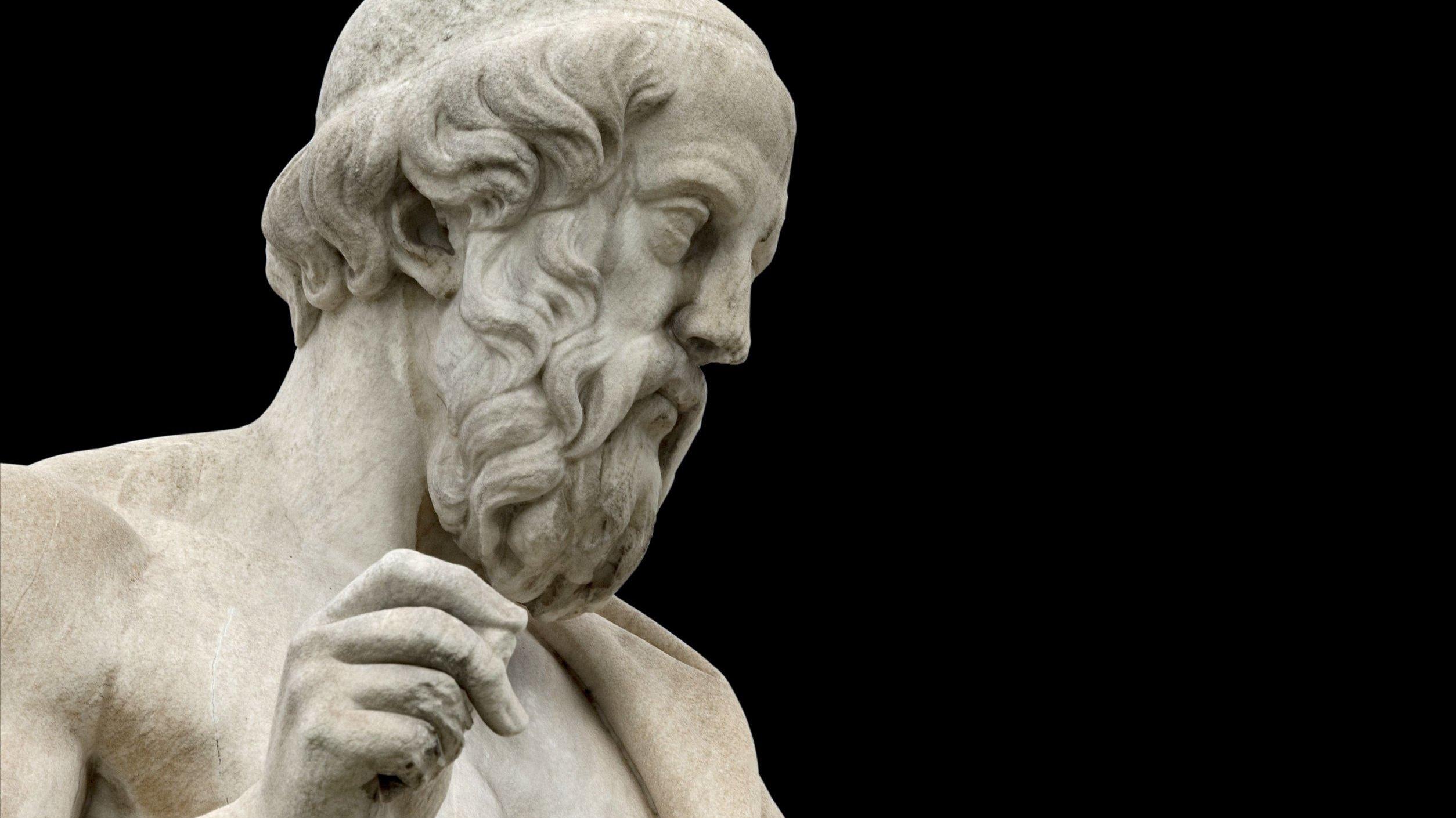 Estátua de Platão.