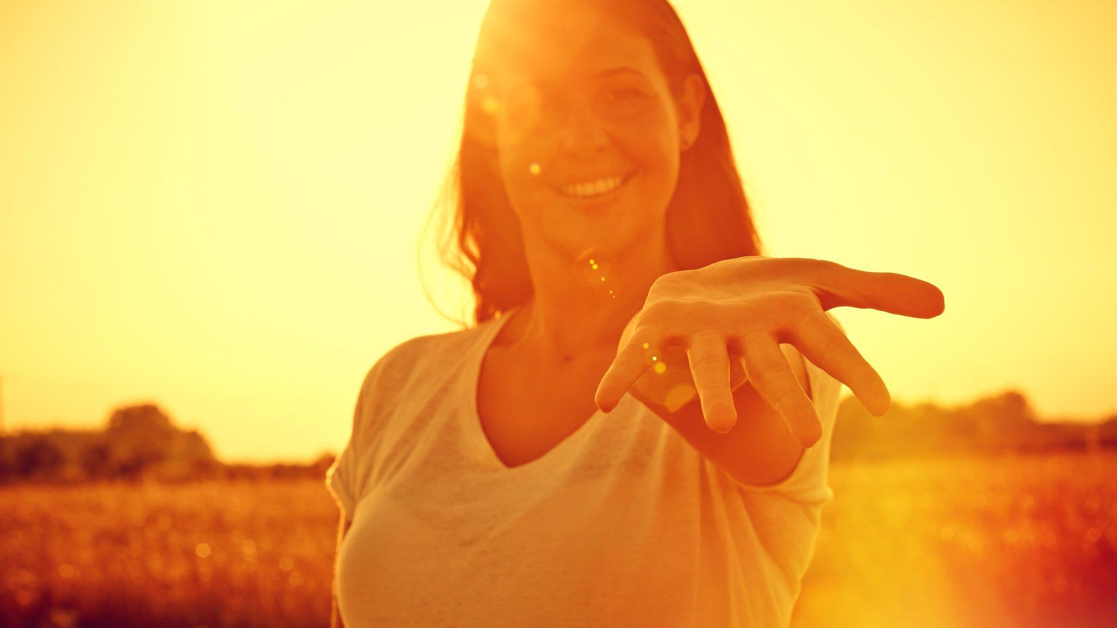 Mulher sorrindo.